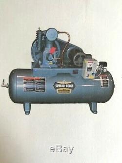 New Saylor-beall 5 HP 17.3cfm Splash Lub Comp Elect Engine Tnk Mnt 1ph USA Made#