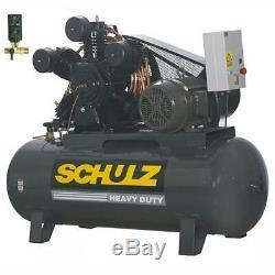 New Schulz 20 HP Piston Air Compressor 20120HLV80BR 934.7452-0 Three Phase