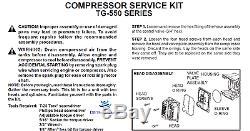 New TG-550 Thomas Airpac Renegade Air Compressor Service Rebuild Kit SK1918 OEM