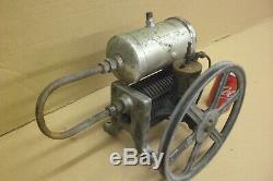 Old Antique Air Compressor Industrial Cast Iron Fins Primitive Steampunk Machine
