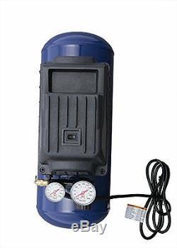 Portable Air Compressor 3 Gallon Car Inflator Tire Kit Horizontal Oilless 10 Pcs