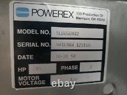 Powerex duplex 2 x 5hp oilless scroll air compressor 120gal 10hp 30CFM