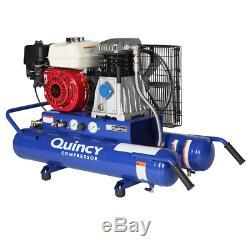 Quincy 5.5-HP 8-Gallon Wheelbarrow Air Compressor with Honda Engine
