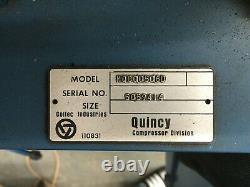 Quincy Air Compressor 60 Gallon Baldor Motor Climate Control 3 Phase 200V 1995