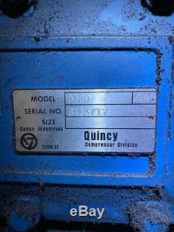 Quincy Air Compressor QR-5120 duplex 25 hp 240 gal pneumatech airdry & tranfer