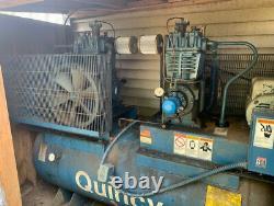 Quincy Industrial Air Compressor Duplex