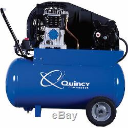 Quincy Single-Stage Air Compressor- 2 HP, 20-Gallon Horizontal Tank