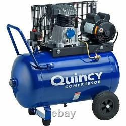 Quincy Single-Stage Electric Air Compressor- 2 HP, 24-Gal Horizontal, 7.4 CFM