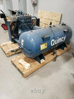 Quincy air compressor 25hp 120 gallon tank 480V pick up only