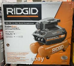 RIDGID (OF45200SS) Electric Quiet Compressor 200 psi 4.5 Gal. Orange. NEW