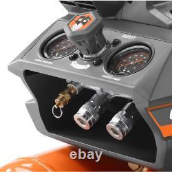 RIDGID Portable Air Compressor 4.5 gal. Tank Pressure Gauge Automatic Start/Stop