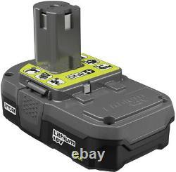 RYOBI 18V 1 gal 120 psi Cordless Portable Air Compressor 2Ah Battery Charger Set