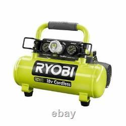 RYOBI 18V Air Compressor Portable Cordless 120 Max PSI Oil Free Quiet Tool ONLY