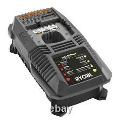 RYOBI Air Compressor Kit 18-Volt 1 Gal. 2.0 Ah Battery Dual Charger Cordless