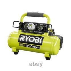 RYOBI Portable Air Compressor 18-Volt Lithium-Ion 1-Stage Tank Pressure Gauge