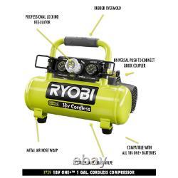 RYOBI Portable Air Compressor 18-Volt ONE+ Cordless 1 Gal. (Tool-Only)
