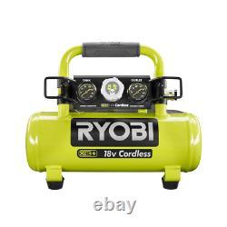 RYOBI Portable Air Compressor 18V Cordless Electric Tank Pressure Gauge Oil Free
