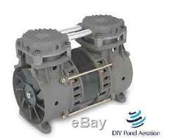 Rebuild Lake Fish Pond Aerator Pump / Compressor Bottom Mount 1/3hp 3+ cfm