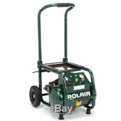Rolair 5.3 Gallon Electric Wheeled Portable Compressor Tires & Tools (Damaged)