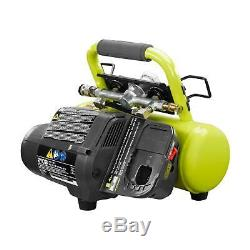 Ryobi 18 Volt ONE+ Cordless 1 Gal Air Compressor with Lithium-Ion Battery Charger