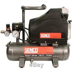 SENCO 1.5 HP 2.5 Gallon Oil-Lube Hand-Carry Air Compressor PC1130 New