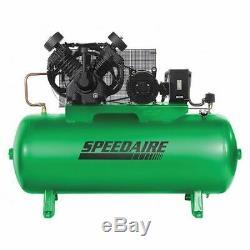 SPEEDAIRE 35WC57 Elec. Air Compressor, 2 Stage, 10HP, 34CFM