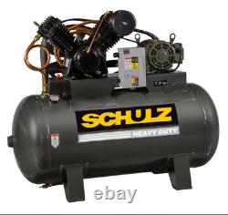 Schulz 7580HV30X-1 7.5-HP 80-Gallon Two-Stage Air Compressor (932.9347-0)