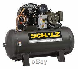 Schulz Air Compressor 5hp 3 Phase- 80 Gallon Tank 20cfm 175 Psi