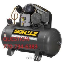 Schulz Air Compressor 5hp Three Phase 80 Gallon Tank 20cfm New