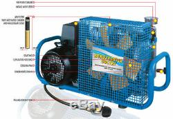Scuba or Paintball Air Compressor, Electric 220VAC, NEW