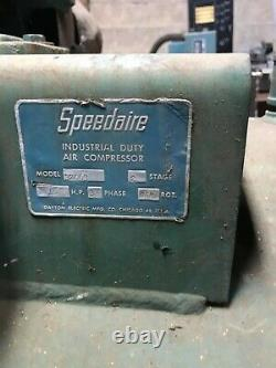 Speedaire 2-Stage Air Compressor 10 hp, 120 gal, 175 PSI, 3 phase 1WD73