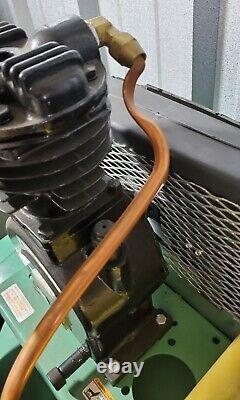 Speedaire 5Z700C 80 Gal. Horiz Tank Mounted Duplex 1-1/2Hp Elec Air Compressor