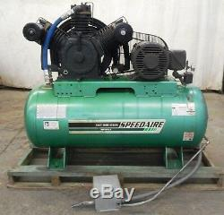 Speedaire, Electrical Horizontal Tank Air Compressor, 3 Phase, 120 Gallons