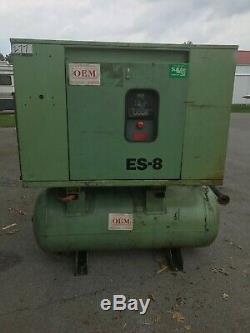 Sullair es8 es-8 rotary screw compressor 15hp 15 hp