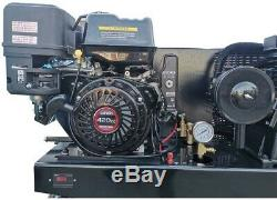 Two-Stage Gas Powered Air Compressor, Horizontal Tank, Piston Compressed Air Sys