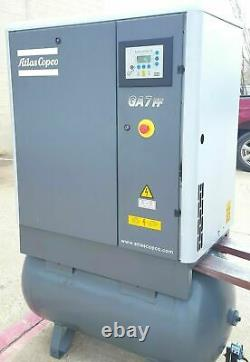 USED 10 Hp ATLAS COPCO ROTARY AIR COMP GA7FF WITH REFRIGERATED DRYER