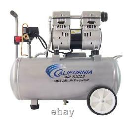 Ultra Quiet & Oil-Free Electric Air Compressor 8.0 Gal 1.0 Hp withWheels Air Tools