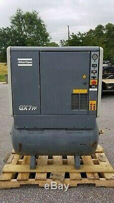 Used 10 HP Atlas Copco Gx 7 W Full Featured W Dryer Rotary Compressor 230/460v