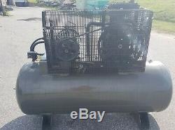 Used 10 HP IMC Belaire Piston Compressor Two Stage 120 Gallon