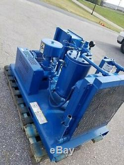 Used 20-hp Curtis Open Skid Rotary Air Compressor 230/460 Volt