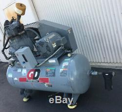 Used Gardner Denver 2 Stage Air Compressor 120 Gal Horizontal 20Hp 208/460v 3Ph