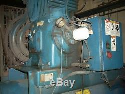 Used Quincy Air Compressor QR-25 Horizontal Series Model 390 with 20 HP GE Motor