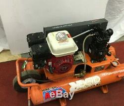 Used RIDGID 9 Gallon Portable Gas Powered Air Compressor Wheelbarrow Commercial