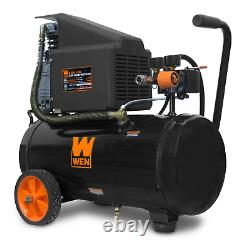 WEN 6-Gallon Oil-Lubricated Portable Horizontal Air Compressor Backed by a 2year