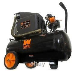 WEN 6-Gallon Oil-Lubricated Portable Horizontal Air Compressor (black) 2287